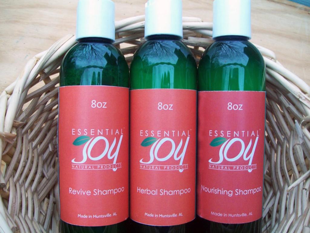 Essential Joy Naturals shampoos